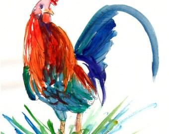 Printable DIY Thank You card 5x7 pdf Kauai Rooster from Kauai Hawaii by Marionette