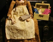 "The Dollmaker - OOAK 18"" Folk Art Regency Doll Set"