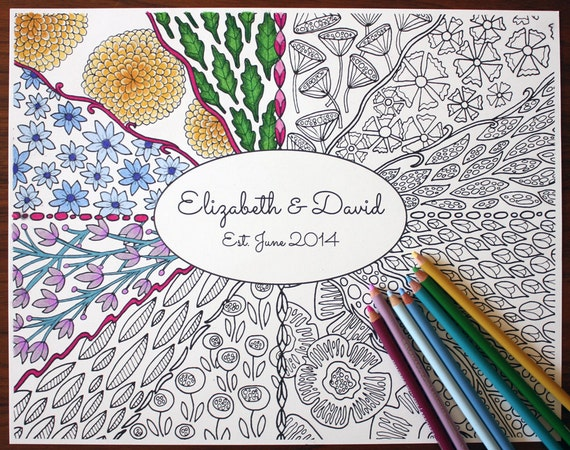 Adult coloring poster personalized adult coloring Personalized coloring books for adults