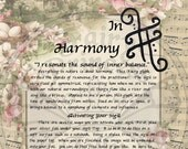 Faery HARMONY Glyph SIGIL, Instant Download Page Urban An Leabhar Book of Secrets, Glamerie Pages, BOS