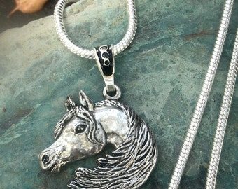 Arabian Horse Pendant Option of Pendant only or Silver Chain