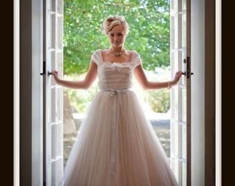 1950s Wedding Dress  'YOLANDA'