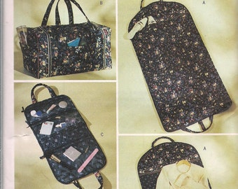 Butterick 3934 5 different travel bags to sew Garment Bag Duffel Bag Organizer and Make Up or Toiletries Bag