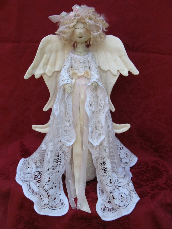 Mailed Cloth Doll Pattern- 18in Beautiful Holiday Heavenly Angel