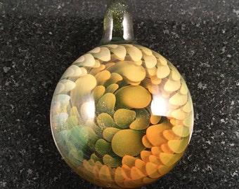 Glass Implosion Pendant Bead --- Majestic Glass Arts ---