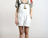 SALE- Vintage Overalls . White Shorts