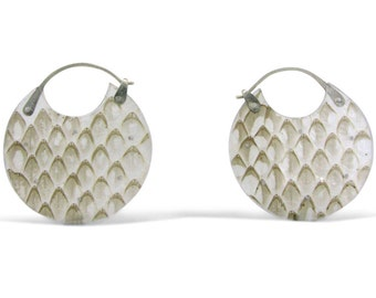 Snake Skin Encasement Earrings- Small