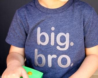 "BIG. BRO! Baby Boy, Toddler Boy ""big bro"" big brother T-shirt - Heather Navy Grey Black Red, 2T, 3T, 4T, 5T, Etsy kid's fashion, bro tshirt"