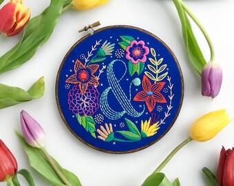Ampersand Fantasy Flower PDF Pattern