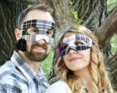 20% OFF! - Clan MacPherson - Pair of Masquerade Masks in Traditional Purple MacPherson Dress Tartan