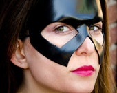 Halloween costume cosplay - leather mask - Steel - Made to Order