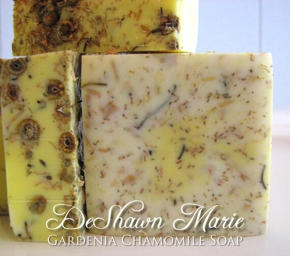 SALE SOAP- Gardenia Chamomile Soap - Gardenia Soap - Handmade Soap - Vegan Soap- Soap Gift, Mother's Day Gift, Birthday Gift, Floral Soap, F