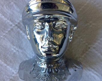 Vintage 1950's Mercury Greek god silver tone lighter