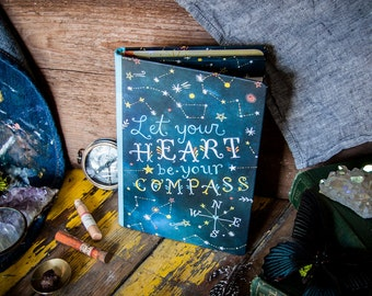 Compass Notepad Folio | Constellation Notebook | Journal | Katie Daisy
