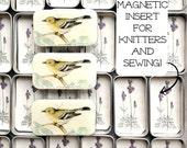 Bird Stitch Marker Tin, notions, sewing needle box
