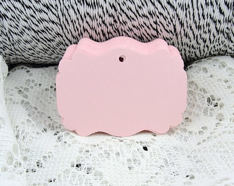 """Pink Blank Tags, Mini Paper Tags, Pink Gift tags, Pink Favor Tags, Pink Hang tags, Pink tags, Size 2.25"""" x 1.5"""""""