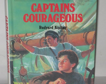 Captains Courageous Rudyard Kipling Chapter Book 1992 Hardback
