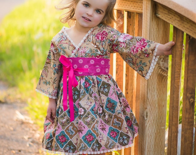 Boutique Easter Dresses - Little Girl Clothes - Toddler Dress - Baby Dress - Birthday - Tween - Country Flower Girl - 12 months to 14 years