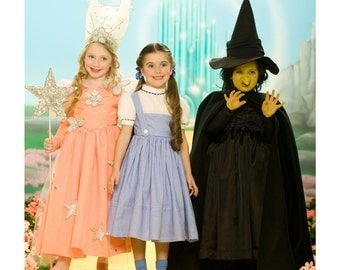 Girls' Wizard of Oz Dorothy Sewing Patterns- Dorthy, the Wicked Witch and Glinda the Good Witch Simplicity 4139 - US Sizes: 3 -4 -5 -6 -7 -8