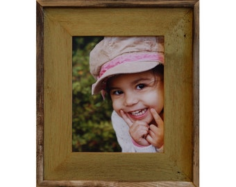 Barnwood Picture Frame - Green Wash, Lighthouse Series