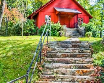 Linville Falls Church North Carolina Fine Art Print - Travel, Scenic, Landscape, Rural, Nature, Home Decor, Zen