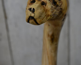 Walking Cane - Carved Grizzly Bear Cane - Hand Carved walking cane - functional art - ren faire - 1364