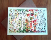 Sympathy Card, Sympathy, Loss of Loved One, Loss of Mother, Funeral Card, Modern Sympathy Card, Trees, Woodland, Birch Forest, Four Seasons
