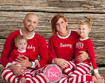 PRE-ORDER Family Christmas Pajamas personalized , Matching family christmas pajamas , toddler christmas pajamas , adult christmas pjs