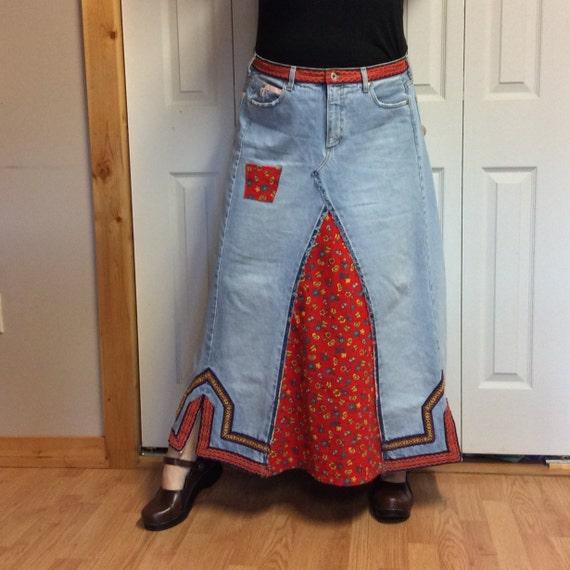 Hippie Jean Skirt 27