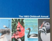 Birds Feathered Friends Book Hardcover Color Pictures Coffee Table Collectible 1983 Childcraft Annual Encyclopedia