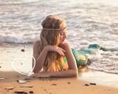 Mermaid Crown / Seashell Headband Summer Festival Flapper Wedding Hawaiian Ocean Head Piece Made to order