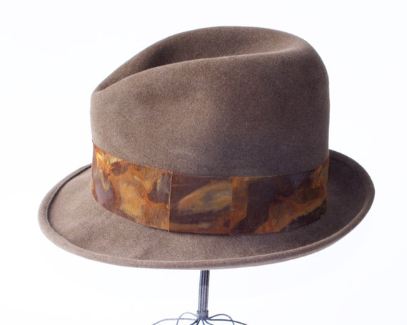 Fedora Hat Men Open Crown Fedora Hat Homburg Men's Felt Hat Spring Accessories Men's Style Mad Men Bogart Fedora Gangster Hat Soft Fedora