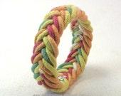herringbone rope bracelet sailor knot bracelet turks head bracelet armband rope jewelry 3741