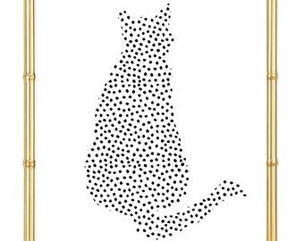 Cat Dot Print - Inspirational - Motivational - Crazy Cat Lady - Cat Lover - Home Decor