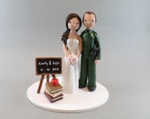 Cake Topper - Custom Police officer & Teacher Wedding