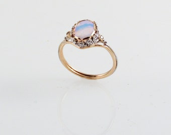 Opal Dream Ring- in 14K Gold