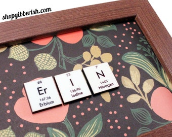 Chemistry Science Custom Periodic Table Name-Sign