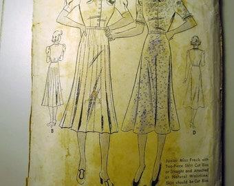 1940s Dress Pattern -Butterick - UNCUT - Factory Folded