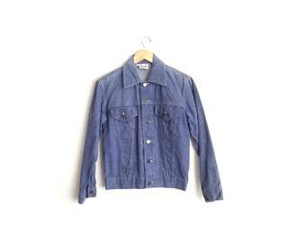 Size M // SALE // DENIM JACKET // Powder Blue - Vintage '70s/'80s Men's.