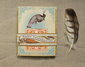 Happy Thanksgiving Mantel Card vintage victorian style harvest holiday home decor hostess gift