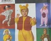 Pooh Bear Costume Simplicity Costumes 7374 Toddler Size 6mo,1,2,3,4, Tiger Rabbit Dog Mouse Costume Pattern
