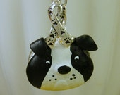 Silver Bulldog Dog Rescue Ribbon Pendant Necklace