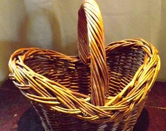 SALE Vintage French Gathering Basket / Cottage Basket
