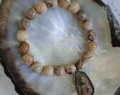 FACETED JASPER BUDDHA Bracelet, yoga, boho, tribal