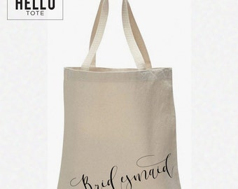 Bridesmaid Tote Bag | Order 1 or More | Bridal Party Gift, Welcome Bag, Wedding Favor
