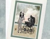 Lowbrow Greeting Card - Sailor Girl Greeting Card - Card & Envelope - Keepsake Card - As Strange As It May Seem