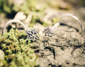 Ivy / Maple Leaf Stud, Great For Your Nose, Tragus, Cartilage, or Regular Earrings!