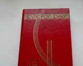 Vintage 5 Year Diary Every Day 5 Year Diary Blank Never Been Used Journal Red 1952-1957 Calendar On Back Page