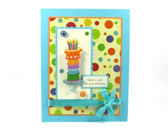 Birthday cake cards, happy birthday cards, women's birthday cards, kids birthday cards, children's birthday cards, birthday greeting