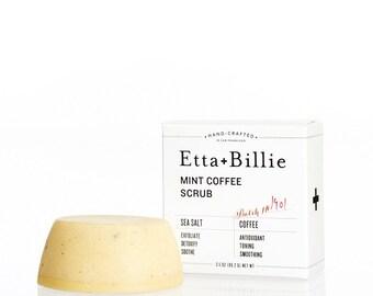Mint Coffee Sea Salt Body Scrub Bar Organic Ingredients